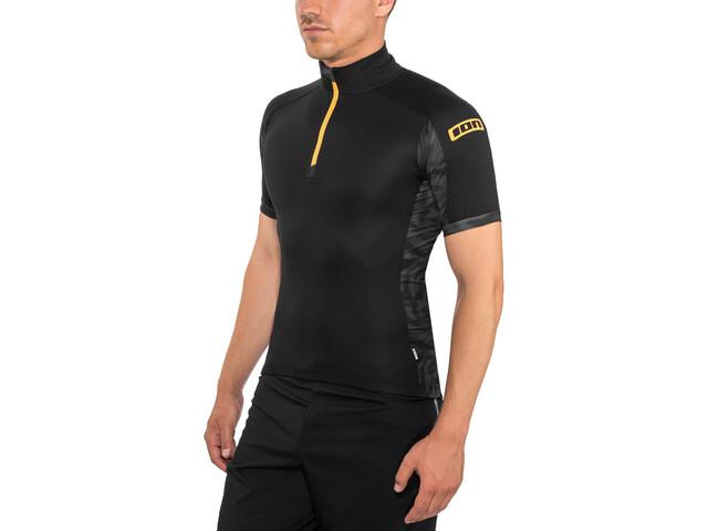 ION Paze T-paita Puolivetoketjullinen Lyhythihainen Miehet, black